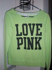 Victorias Secret Love Pink Cute NEON GREEN  Sweatshirt SIZE XS-TP- XP