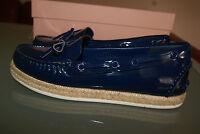 MIU MIU by Prada Pumps Mokassins Gr. 36 Damenschuhe blau Lackleder NEU