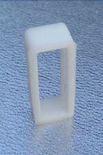UK consegna 1pc 20 mm Bianco PVC Orologio Cinturino di Fissaggio Cerchio Anello fermo in gomma *