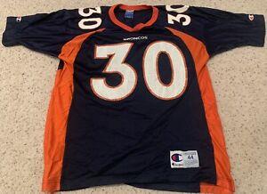 Vintage Champion Denver Broncos Terrell Davis #30 Jersey Sz L 44 NFL Authentic