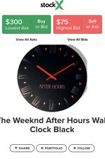 The Weeknd After Hours Wall Clock Black Red New Rare