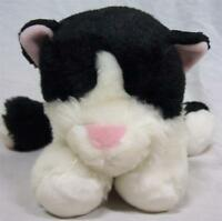 """Animal Alley BLACK AND WHITE CAT 13"""" Plush STUFFED ANIMAL Toy"""