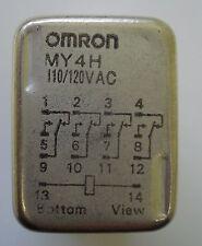 Lote de 2 un. nuevo Omron MY4H 110/120VAC 4PDT Mini Plug-in de bobina de relé, 3 A 120Vac