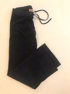 Juicy Couture Wmns Sz P Nvy Prep It Up Terrycloth Drawstring Low Rise Sweatpants