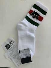 Authentic Gucci Skull Wings Socks Green, Red Stripes Cotton New Size M 24-26 Cm