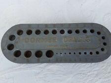 Vintage Tool Dormer Drills Bit Holder Imperial Measurements Used.