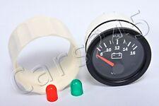 """VDO Voltmeter Gauge 8-16V 2"""" 12V 332-010-001K"""