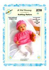 Para Muñecas del bebé nacido//17 pulgadas Honeydropdesigns conjunto 2 4 papel de tejer patrones