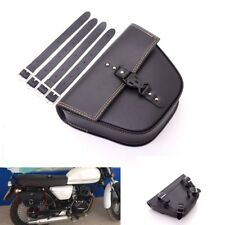Black Motorcycle Leather Side Saddle Bag luggage Universal Quick-release buckle