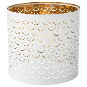"""IKEA NYMÖ Lamp shade, white, brass color, 9"""" In Box BRAND NEW-"""