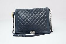 Navy Chanel XL Gentle Boy Flap Bag