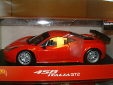 1:18 FERRARI 458 ITALIA GT2 IN RED, MATTEL HOT WHEELS.