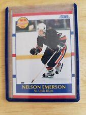 1990-91 Panini Score NHL PROSPECT Nelson Emerson RC St. Louis Blues Card #383