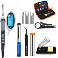 SET Electric Soldering 60W Welding Iron Gun temp Controlled,and Solder Tool Kit