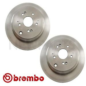 NEW 313x11mm Solid Pair Set of 2 Rear Disc Brake Rotors Brembo for Honda Odyssey