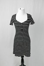 Reformation Black & White Stripe Ribbed Mini Dress Size Large