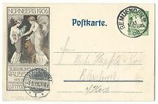 Bayern Privatganzsache Nürnberg Ausstellung 1906 GEMUENDEN
