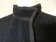 Lanvin  BLACK BOILED WOOL CLOTH COAT  RRP £1665  Size 38 UK 10