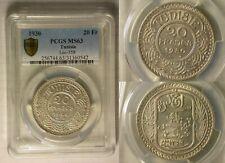 Tunisia 20 Francs 1930 MS 63