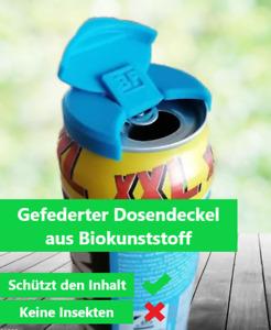 4 x Deckel für Getränkedose / Dosendeckel mit gefederten Verschluss