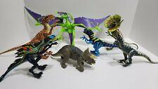 Jurassic Park Dinosaurs Action Lot of 8 - JP49, JP01 Chaos Raptor RARE
