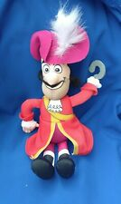FISHER PRICE JAKE AND THE NEVERLAND PIRATES TALKING CAPTAIN HOOK SOFT TOY PLUSH
