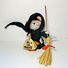 Annalee Halloween Mouse Witch Hat Trick Or Treat Bag Broom 1993 Usa