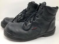 "Red Wing Mens Steel Toe Work Boots Sz 12 D Black Leather 6"" Lace Up Style 2234"