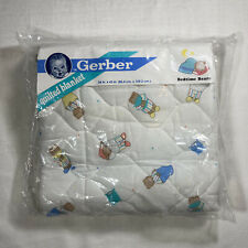 Vintage Gerber Quilted Blanket 1989 Bedtime Bears Crib Bedding New In Bag 34x43""