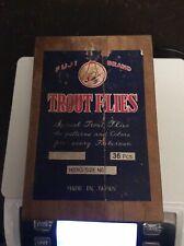 Fuji Brand Trout Flies - 15 Flies - 12 Patterns in Wooden Box - Circa 1950