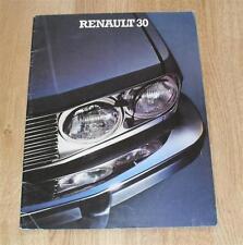 RENAULT 30 BROCHURE intorno al 1980 30 TS & TX