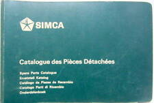 1969 SIMCA 1100 CATALOGUE DE PIECES DETACHEES EN MULTILANGUES