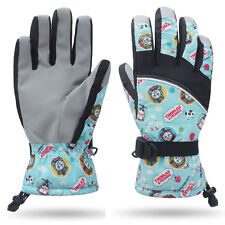 Women Gilrs Teen Snow Ski Skiing Snowboard Winter Waterproof Thermal Gloves
