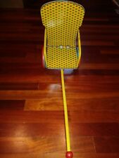 Antique Vintage J. Chein & Co. TIN Lithograph DOLL Pull Cart Chair 1950's