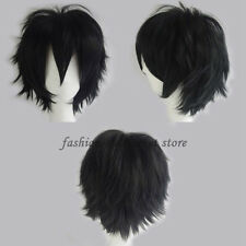 Unisex Anime Fashion Short Wig Cosplay Party Straight Hair Cosplay Wigs White US