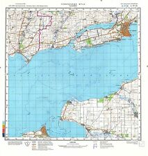 Russian Soviet Military Topographic Maps - TAGANROG (Russia),1:200 000, ed.1986