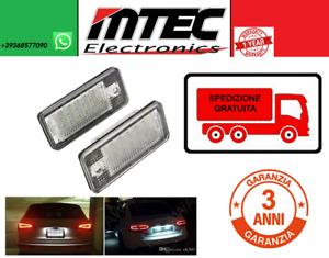 Paar LED Kennzeichen Audi A3, A4, A6, A8, S3, S4 Deckenleuchten Ohne Fehler Hoch