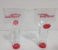 Grand Marnier cordial liquor mini bottle (2) plastic side car shot glasses