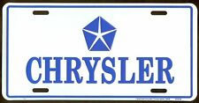 CHRYSLER AUTO METAL LICENSE PLATE AUTO TAG NUMBER #2103