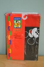 Brand New Nos Vintage Classic Mickey Mouse Standard Pillowcase Red & Black