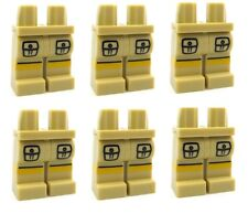 LEGO 6 Pairs TAN Minifigure Legs with Cargo Pockets Yellow Stripe Army Jungle