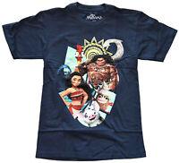 Disney Moana Cast Navy Men's T-Shirt New
