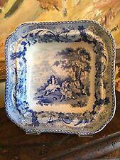 English Blue & White Transferware Bowl circa 1820s Well & Goodfellow Bath Rural