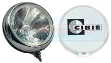 "GENUINE CIBIE OSCAR 7"" INCH 180mm HIGH BEAM DRIVING LIGHT LAMP WITH CHROME RIM"