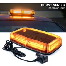 Xprite Amber 6 COB LED Roof Top Mini Oval Bar Strobe Light Flash Emergency