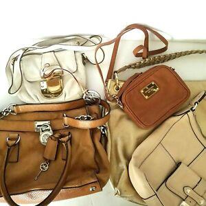 Michael Kors Lot 6 PC Handbag Lot & Ralph Lauren for Restoration Parts & Repair