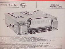 1956 MERCURY MONTCLAIR CONVERTIBLE MONTEREY CUSTOM MEDALIST RADIO SERVICE MANUAL
