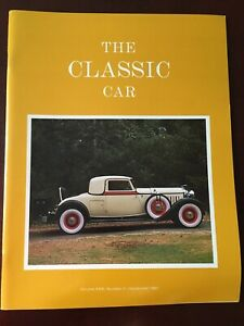 The Classic Car Magazine (Volume XXXI, Number 3 - September 1983)