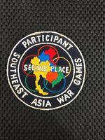 b3775 US Vietnam Novelty Patch Southeast Asian War Games Participant blue IR3B