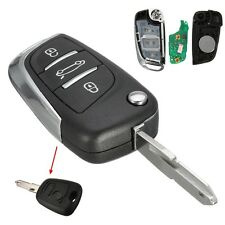 DS Style 3 Buttons Folding FOB Remote Key For Peugeot 206 207 206CC 433MHz